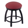 "Holland Bar Stool Co. 802 Misha 18"" Vanity Stool with Black Wrinkle Finish, Allante Wine Seat, and 360 Swivel"