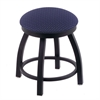 "802 Misha 18"" Vanity Stool with Black Wrinkle Finish, Axis Denim Seat, and 360 Swivel"
