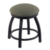 "Holland Bar Stool Co. 802 Misha 18"" Vanity Stool with Black Wrinkle Finish, Axis Grove Seat, and 360 Swivel"