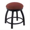 "802 Misha 18"" Vanity Stool with Black Wrinkle Finish, Axis Paprika Seat, and 360 Swivel"