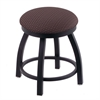 "Holland Bar Stool Co. 802 Misha 18"" Vanity Stool with Black Wrinkle Finish, Axis Truffle Seat, and 360 Swivel"