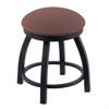 "Holland Bar Stool Co. 802 Misha 18"" Vanity Stool with Black Wrinkle Finish, Axis Willow Seat, and 360 Swivel"