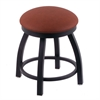 "802 Misha 18"" Vanity Stool with Black Wrinkle Finish, Rein Adobe Seat, and 360 Swivel"