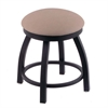 "802 Misha 18"" Vanity Stool with Black Wrinkle Finish, Rein Thatch Seat, and 360 Swivel"