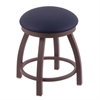 "802 Misha 18"" Vanity Stool with Bronze Finish, Allante Dark Blue Seat, and 360 Swivel"