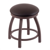 "802 Misha 18"" Vanity Stool with Bronze Finish, Allante Espresso Seat, and 360 Swivel"