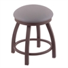 "802 Misha 18"" Vanity Stool with Bronze Finish, Allante Medium Grey Seat, and 360 Swivel"