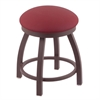 "802 Misha 18"" Vanity Stool with Bronze Finish, Allante Wine Seat, and 360 Swivel"