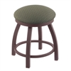 "Holland Bar Stool Co. 802 Misha 18"" Vanity Stool with Bronze Finish, Axis Grove Seat, and 360 Swivel"