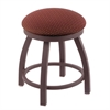 "802 Misha 18"" Vanity Stool with Bronze Finish, Axis Paprika Seat, and 360 Swivel"