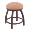"Holland Bar Stool Co. 802 Misha 18"" Vanity Stool with Bronze Finish, Axis Summer Seat, and 360 Swivel"
