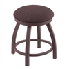 "Holland Bar Stool Co. 802 Misha 18"" Vanity Stool with Bronze Finish, Axis Truffle Seat, and 360 Swivel"