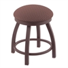 "Holland Bar Stool Co. 802 Misha 18"" Vanity Stool with Bronze Finish, Axis Willow Seat, and 360 Swivel"