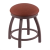 "802 Misha 18"" Vanity Stool with Bronze Finish, Rein Adobe Seat, and 360 Swivel"