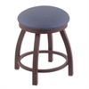 "802 Misha 18"" Vanity Stool with Bronze Finish, Rein Bay Seat, and 360 Swivel"