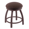 "802 Misha 18"" Vanity Stool with Bronze Finish, Rein Coffee Seat, and 360 Swivel"