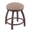 "802 Misha 18"" Vanity Stool with Bronze Finish, Rein Thatch Seat, and 360 Swivel"