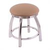 "802 Misha 18"" Vanity Stool with Chrome Finish, Allante Beechwood Seat, and 360 Swivel"