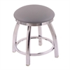 "802 Misha 18"" Vanity Stool with Chrome Finish, Allante Medium Grey Seat, and 360 Swivel"