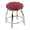 "802 Misha 18"" Vanity Stool with Chrome Finish, Allante Wine Seat, and 360 Swivel"