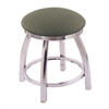 "802 Misha 18"" Vanity Stool with Chrome Finish, Axis Grove Seat, and 360 Swivel"