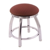 "802 Misha 18"" Vanity Stool with Chrome Finish, Axis Paprika Seat, and 360 Swivel"