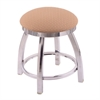 "802 Misha 18"" Vanity Stool with Chrome Finish, Axis Summer Seat, and 360 Swivel"