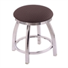 "Holland Bar Stool Co. 802 Misha 18"" Vanity Stool with Chrome Finish, Axis Truffle Seat, and 360 Swivel"