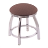 "802 Misha 18"" Vanity Stool with Chrome Finish, Axis Willow Seat, and 360 Swivel"