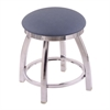"802 Misha 18"" Vanity Stool with Chrome Finish, Rein Bay Seat, and 360 Swivel"