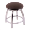"802 Misha 18"" Vanity Stool with Chrome Finish, Rein Coffee Seat, and 360 Swivel"