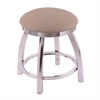 "Holland Bar Stool Co. 802 Misha 18"" Vanity Stool with Chrome Finish, Rein Thatch Seat, and 360 Swivel"
