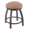 "802 Misha 18"" Vanity Stool with Pewter Finish, Allante Beechwood Seat, and 360 Swivel"