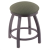 "802 Misha 18"" Vanity Stool with Pewter Finish, Axis Grove Seat, and 360 Swivel"