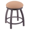 "802 Misha 18"" Vanity Stool with Pewter Finish, Axis Summer Seat, and 360 Swivel"
