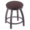 "802 Misha 18"" Vanity Stool with Pewter Finish, Axis Truffle Seat, and 360 Swivel"