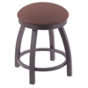"802 Misha 18"" Vanity Stool with Pewter Finish, Axis Willow Seat, and 360 Swivel"