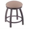"802 Misha 18"" Vanity Stool with Pewter Finish, Rein Thatch Seat, and 360 Swivel"