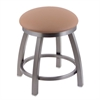 "802 Misha 18"" Vanity Stool with Stainless Finish, Allante Beechwood Seat, and 360 Swivel"