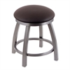 "Holland Bar Stool Co. 802 Misha 18"" Vanity Stool with Stainless Finish, Allante Espresso Seat, and 360 Swivel"