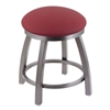 "802 Misha 18"" Vanity Stool with Stainless Finish, Allante Wine Seat, and 360 Swivel"