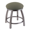 "802 Misha 18"" Vanity Stool with Stainless Finish, Axis Grove Seat, and 360 Swivel"