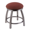 "802 Misha 18"" Vanity Stool with Stainless Finish, Axis Paprika Seat, and 360 Swivel"