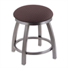 "802 Misha 18"" Vanity Stool with Stainless Finish, Axis Truffle Seat, and 360 Swivel"