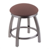 "802 Misha 18"" Vanity Stool with Stainless Finish, Axis Willow Seat, and 360 Swivel"