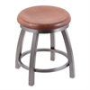 "Holland Bar Stool Co. 802 Misha 18"" Vanity Stool with Stainless Finish, Medium Oak Seat, and 360 Swivel"