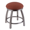 "802 Misha 18"" Vanity Stool with Stainless Finish, Rein Adobe Seat, and 360 Swivel"