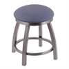 "802 Misha 18"" Vanity Stool with Stainless Finish, Rein Bay Seat, and 360 Swivel"