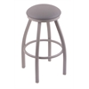 "802 Misha 30"" Bar Stool with Anodized Nickel Finish, Allante Medium Grey Seat, and 360 swivel"