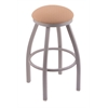 "802 Misha 30"" Bar Stool with Anodized Nickel Finish, Axis Summer Seat, and 360 swivel"